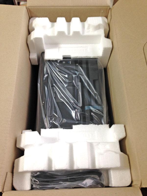 ブラザープリンタPRIVIO DCP-J963N-B梱包状態
