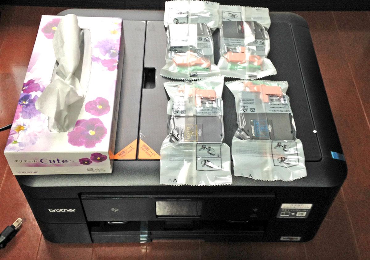 ブラザープリンタPRIVIO DCP-J963N-Bサイズ感