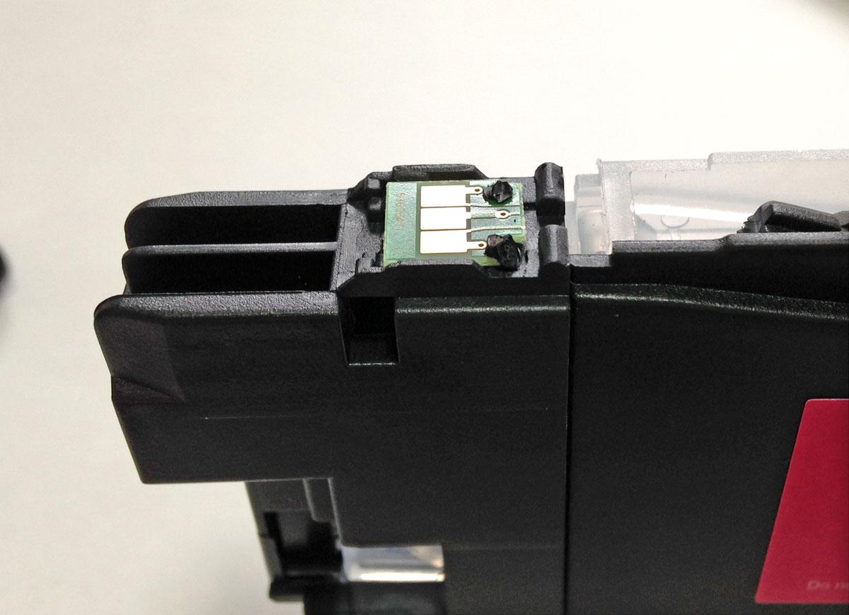 LC211カートリッジICチップ換装完了