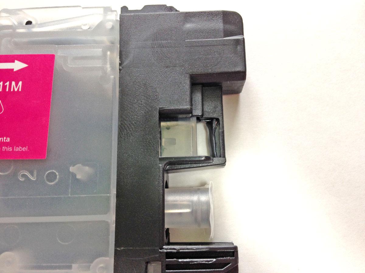 LC211カートリッジセンサー窓保護プラスチック押しつぶす