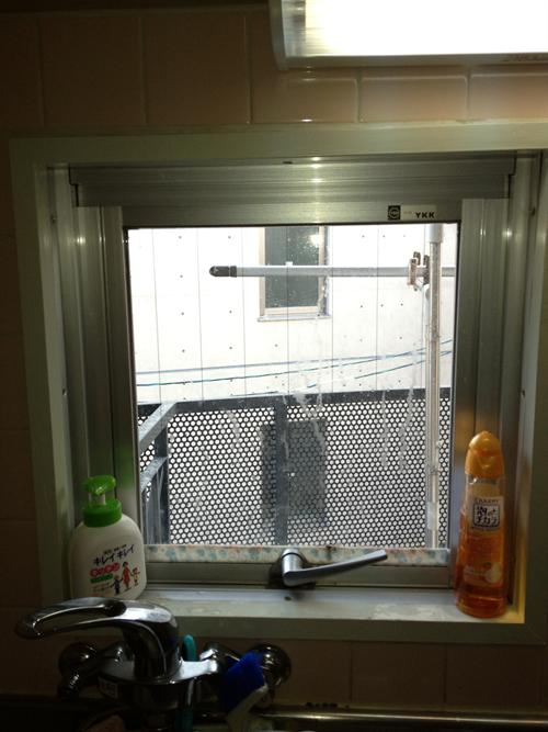 窓目隠し施工前2