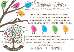 ウエディングツリー説明文使用例